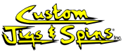 custom jigs & spins logo