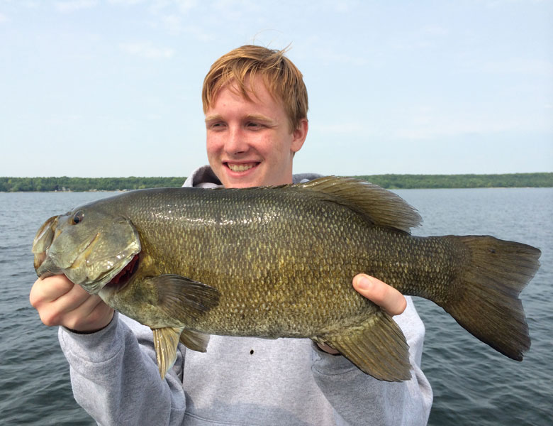 smallmouth bass caught with guide bret alexander
