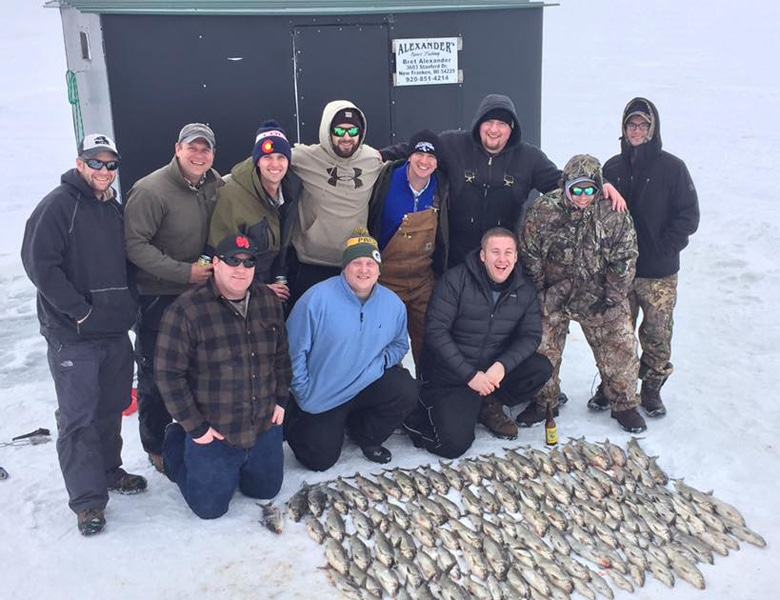 amazing ice fishing sturgeon bay