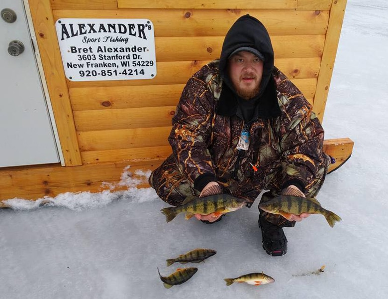 ice fishing guide for pearch in sturgeon bay